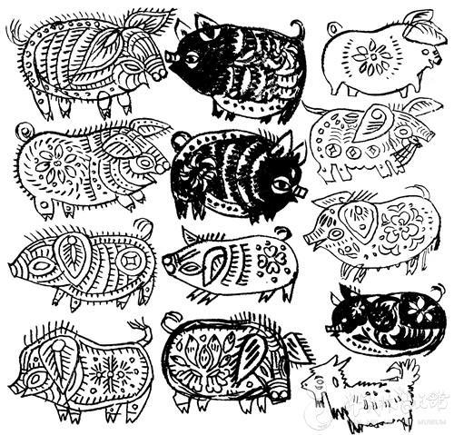 他笔下那毛茸茸的动物造型,融合传统水墨和现代水彩画效果于一体,人见